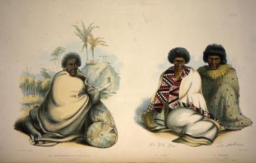 Potatau Te Wherowhero with two other chiefs