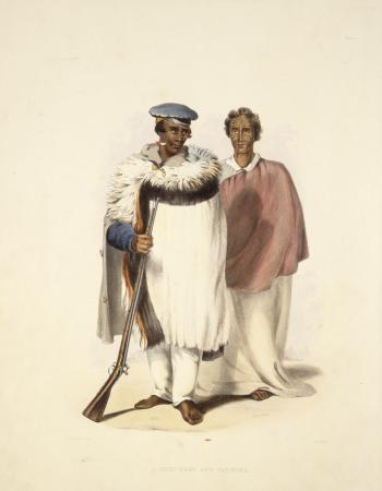 Hone Wiremu Heke Pokai (left) and Eruera Maihi Patuone