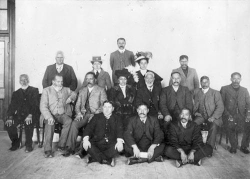 Māori leaders of Gisborne, photographed in the early twentieth century