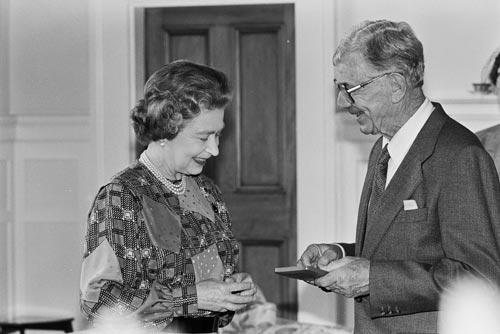 Receiving a royal honour