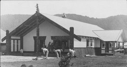 Māhinārangi meeting house, about 1940