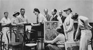 A 1936 photograph of The Group, an association of artists formed in reaction to the conservative art establishment