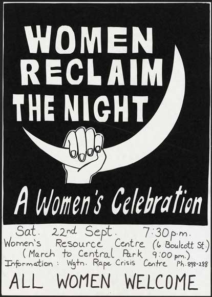 'Reclaim the night' poster