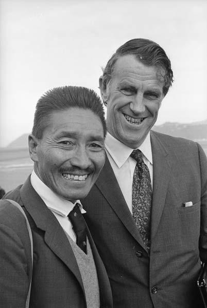 Tenzing Norgay and Ed Hillary, 1971