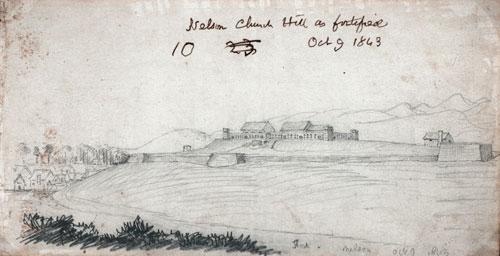 Church Hill fort, October 1843