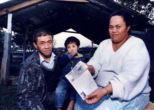 Finau family with donation