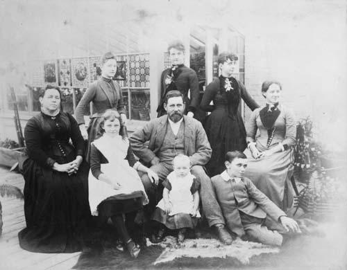 The Martin family, Wellington, around 1889