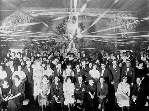 Dance, Whakarongo hall, 1920s