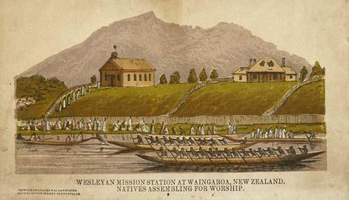 Te mīhana ki Whāingaroa i te tau 1840