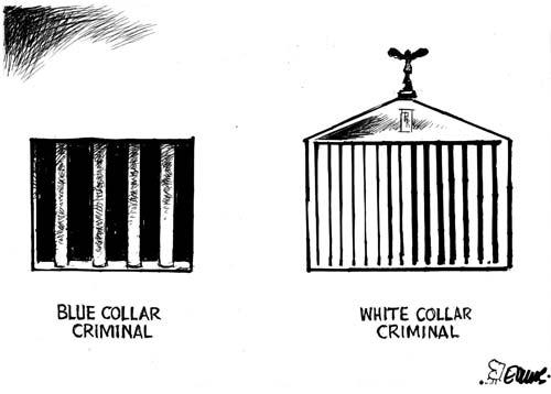 Blue-collar and white-collar crime