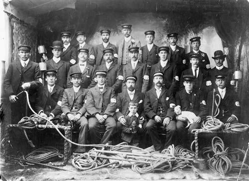 Palmerston North volunteer fire police, 1906