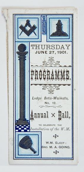 Masonic ball programme, 1901