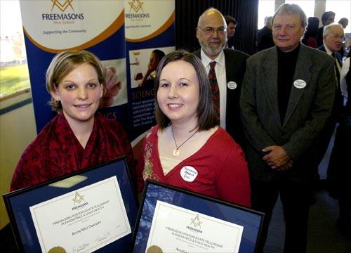 Freemasons' scholarships recipients