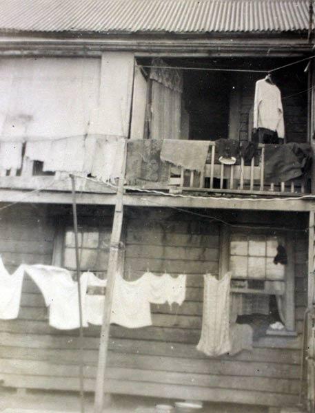 Sub-standard housing, Auckland, 1951