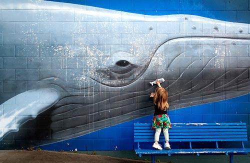 Whales in Kaikōura: mural