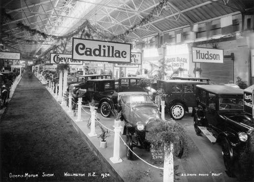 Olympia motor show, Wellington, 1924