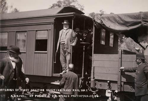 Richard Seddon opening a railway line, 1906