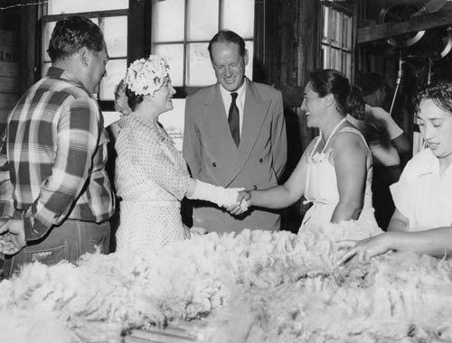 Royal visits: woolshed visit, 1958