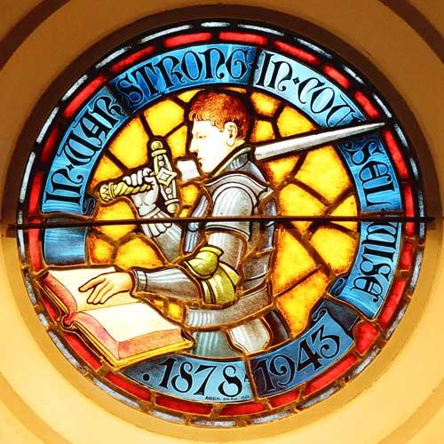 Image-making: Gordon Coates stained-glass window