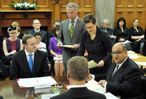 Swearing in John Key's cabinet