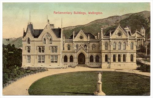 Parliament buildings: Wellington, 1900s