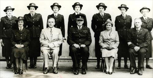 First uniformed policewomen, 1952
