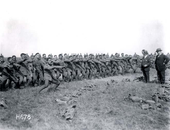 Pioneer Battalion performing a haka