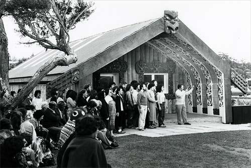Opening of Te Kupenga o te Matauranga marae, Palmerston North Teachers' College, 1980