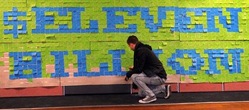 Student debt installation, 2010