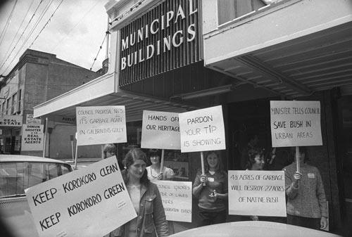 Community protest, Petone, 1972