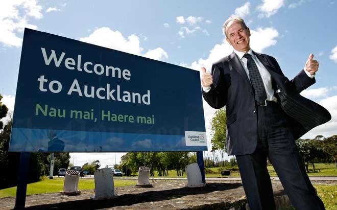 Auckland Council mayor Len Brown