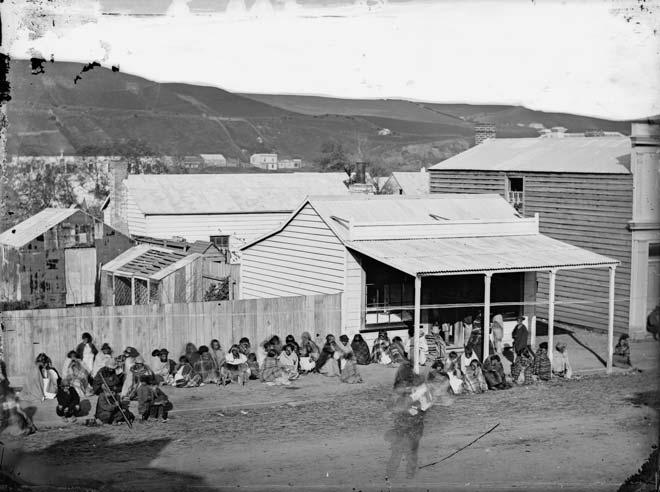 Land court hearing, 1860s