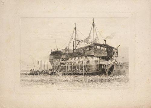 Prison hulk, Portsmouth, 1828