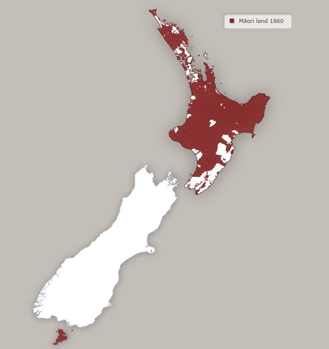 Ngā whenua Māori, i te tau 1860