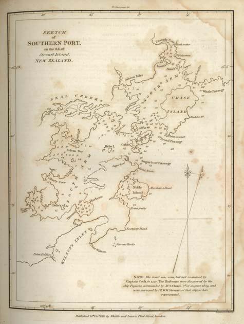 Chart of Port Pegasus, 1809