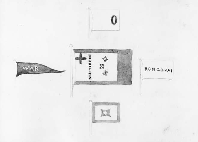 Kīngitanga flags: Pōtatau Te Wherowhero's flag