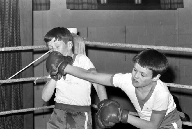 St Edmund's School boxing tournament, Dunedin, 1970