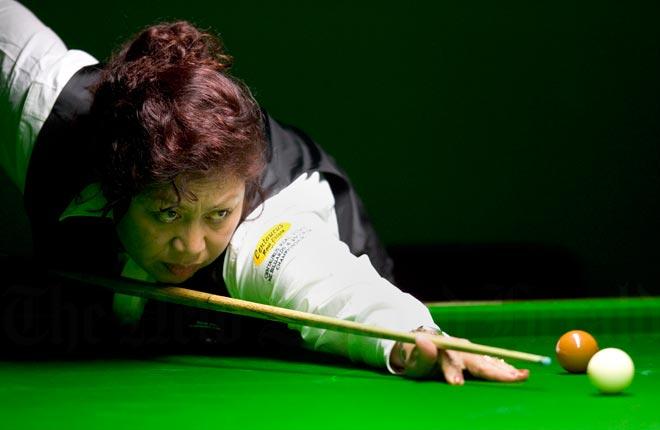 Siloti Maher at the New Zealand Snooker Championship, 2005