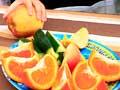 Children eating fruit, 2007