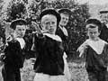 School cutlass drill, 1900