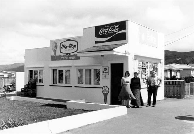 Signalbox dairy, Featherston, 1980
