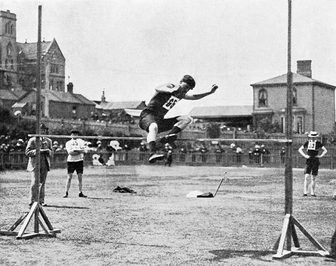 High jumper, Wellington, 1907