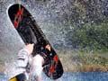 Water-skiing championship tricks
