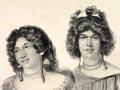 Women's hairstyles, around 1827