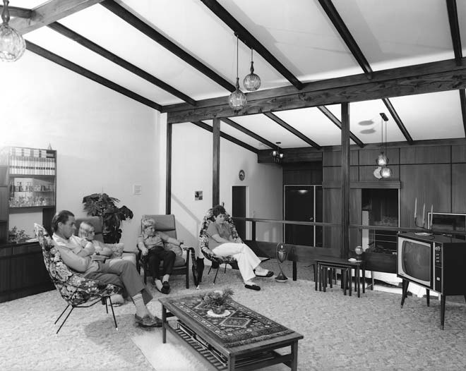 Zoning out in front of the television, 1974