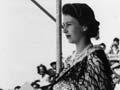 Queen Elizabeth II wearing a korowai, 1954