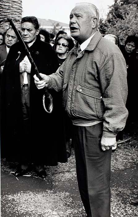 Tainui elder Rua Cooper, 1991