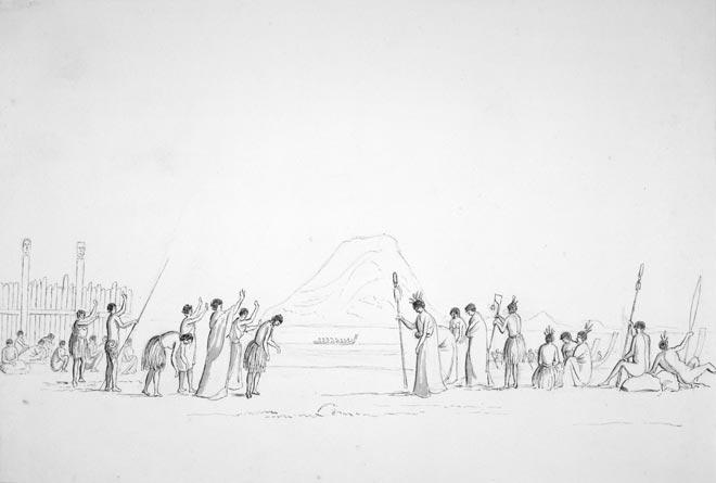 Pōwhiri ki Maunganui, i ngā tau 1840