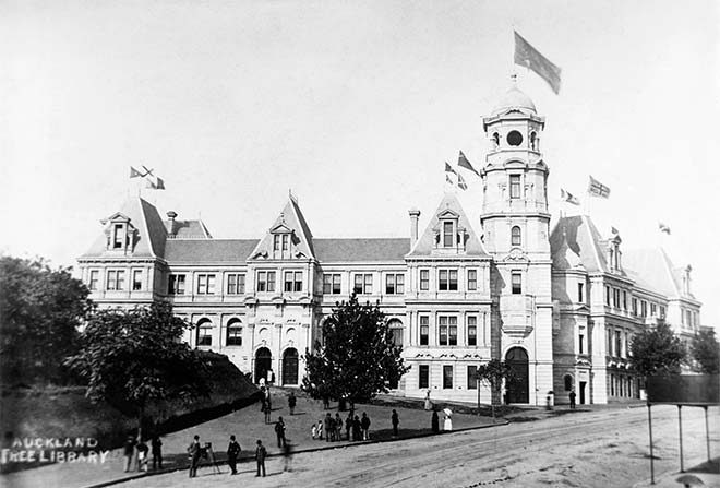 Opening of the Auckland Public Library, 1887