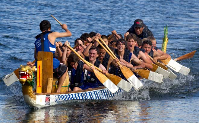 Rangitoto College dragon boat team